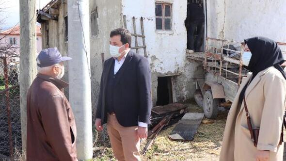 AK Partiden evi yanan vatandaşa ziyaret
