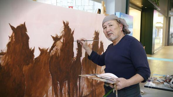 Kırgız atlarıyla dostluk köprüsü
