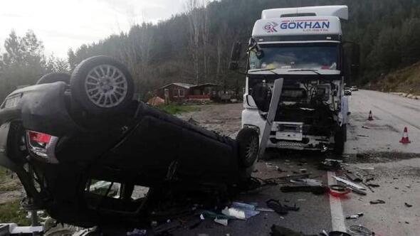 Antalya- Isparta karayolunda kaza: 1 yaralı