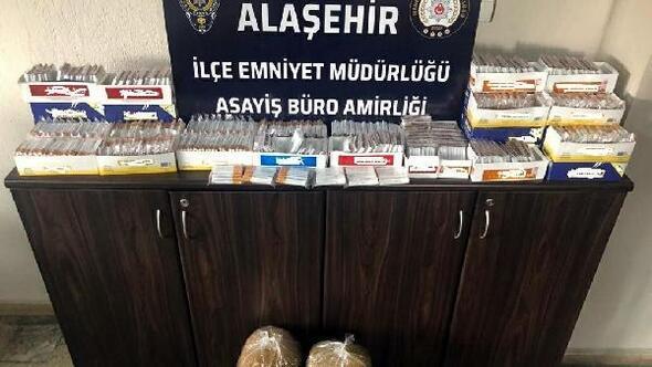 Alaşehirde 10 kilo kaçak tütün ele geçirildi