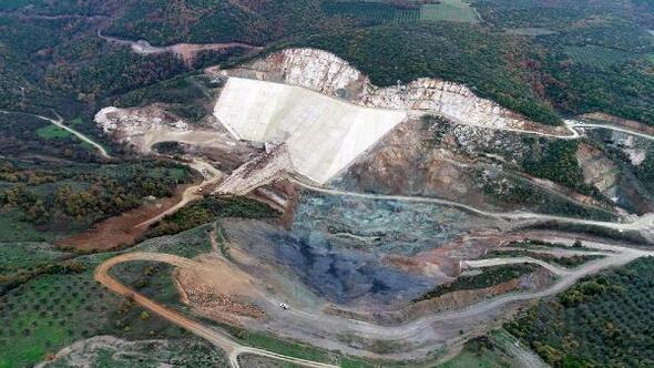 Karacabey Yeşildere Barajının yapımı sürüyor