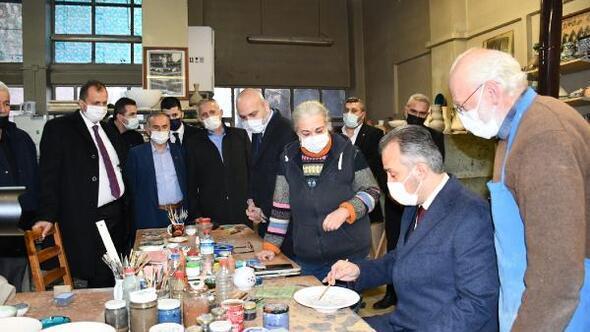 Bursa Büyükşehir Belediye Başkanı Aktaş, İzniki ziyaret etti