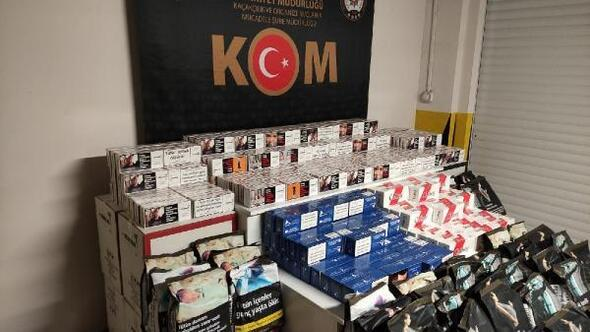 Eskişehir'de kaçak sigara ve tütün ele geçirildi