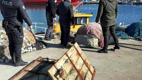 Tekirdağda denize gizlenmiş 2 trol kapısı bulundu