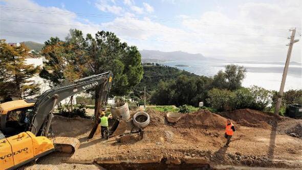 Bodrum Turgutreiste 60 kilometre kanalizasyon hattı tamamlandı