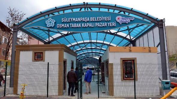 Süleymanpaşanın kapalı pazaryeri TBMM Başkanı Şentopun katılacağı törenle açılacak