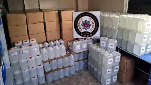 Tekirdağda 3 bin 500 litre etil alkol ele geçirildi