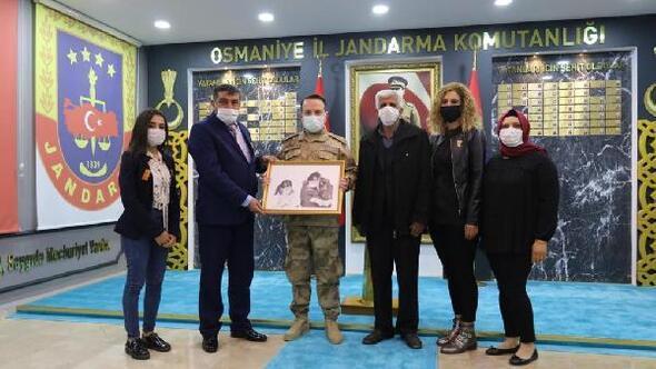 Şehit ailelerinden, İl Jandarma Komutanı Tombula ziyaret
