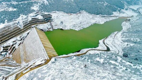 Yağışlar Çay Barajını dolduruyor