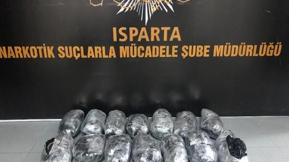 Ispartada esrar operasyonuna 1 tutuklama