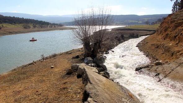 Bolunun içme suyu barajında su seviyesi yükseldi