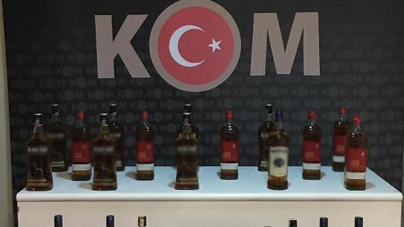 Kırıkkalede 32 litre kaçak içki ele geçirildi