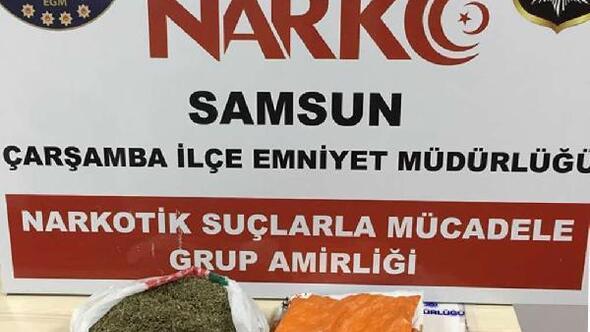 Samsunda uyuşturucu operasyonu: 2 gözaltı