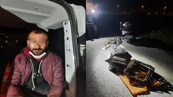 Polisten kaçan motosikletli hırsız, kovalamaca sonucu yakalandı