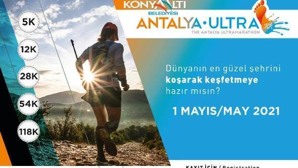 Konyaaltı Belediyesi Antalya Ultra Maratonu 1 Mayısta