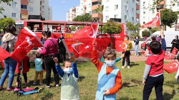 Antalyada 23 Nisan coşkusu başladı