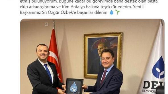 İl Başkanı Akıncı görevinden istifa etti, yeni başkan Özbek oldu