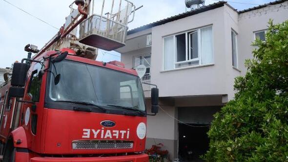 Serikte ev yangını