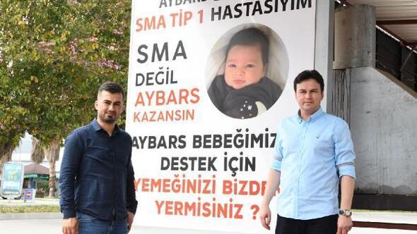 Aybars bebeğin babasında destek ziyareti