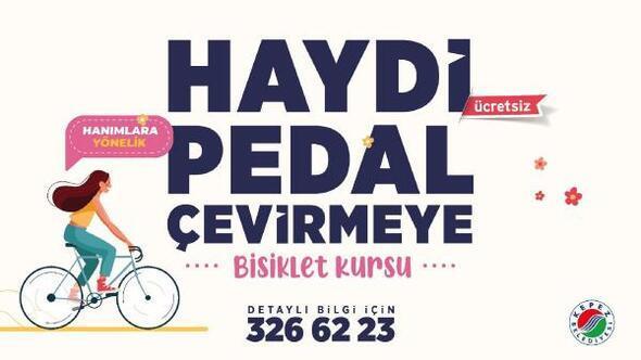 Kadınlar için ücretsiz bisiklet kursu