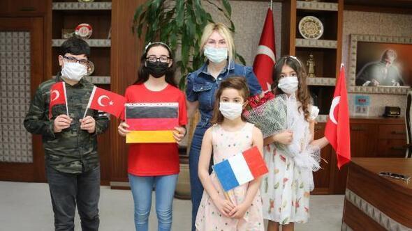 Miniklerden Rektör Özkana ziyaret