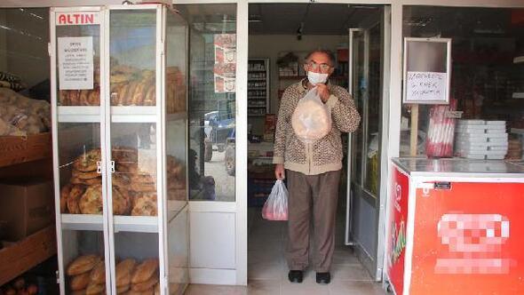 Ramaza ayında köy bakkalından ücretsiz ekmek kampanyası