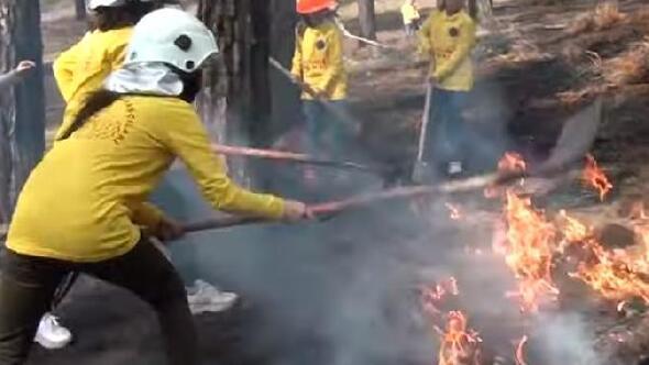 Çocuklar orman yangınlarına kliple dikkat çekti