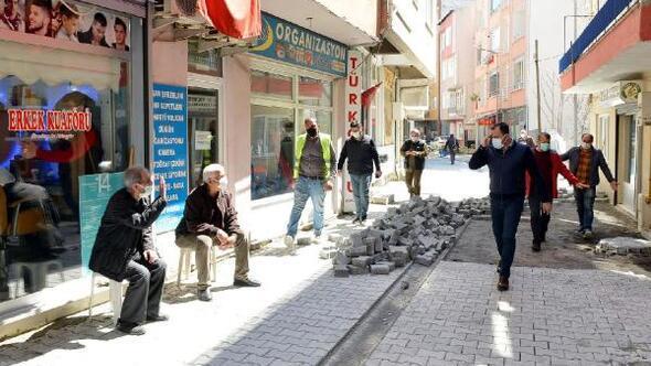 Süleymanpaşa Belediyesi, Gülbahar Sokakı iki günde yeniledi