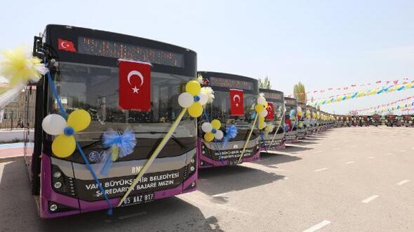 Van Büyükşehir Belediyesine 54 milyon liralık yeni araç