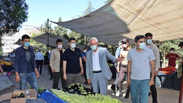 Mardinde semt pazarı koronavirüs tedbiriyle açıldı