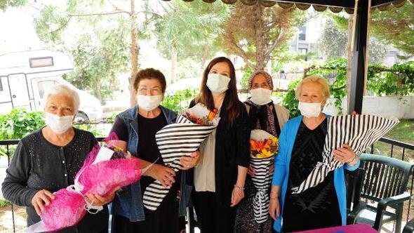 Kadın belediye başkanından annelere ziyaret
