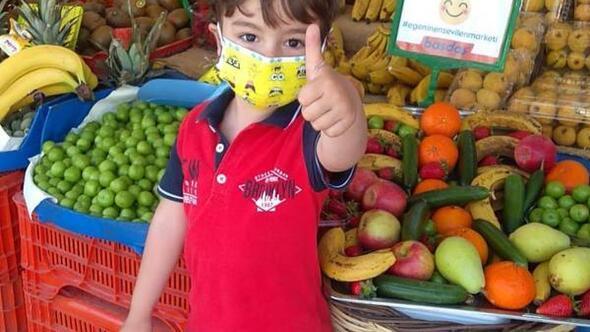 İzmirde markette çocuklar için göz hakkı reyonu