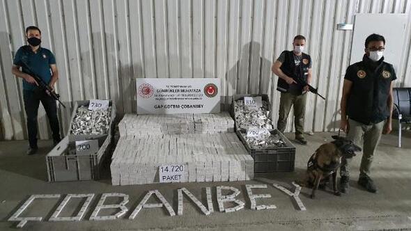 Kiliste, 14 bin 720 paket kaçak sigara yakalandı
