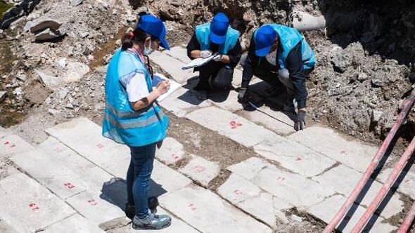 Halit Ziya Bulvarındaki çalışmalar Müze Müdürlüğü denetiminde sürüyor