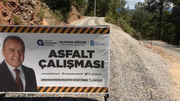 Gazipaşada alt yapı sonrası asfalt seferberliği