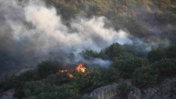 Kızılcahamam'da 70 dönüm yandı