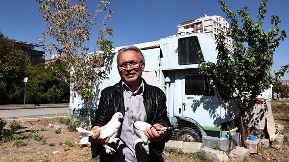 'Kuşçu Ahmet'in karavan barınağı