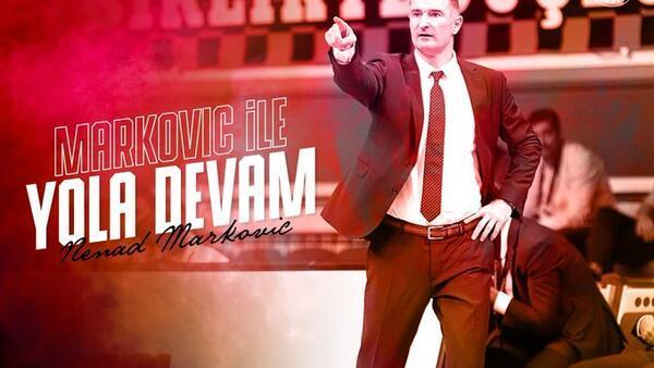 Gaziantep Basketbol, Nenad Markovic'le yola devam ediyor