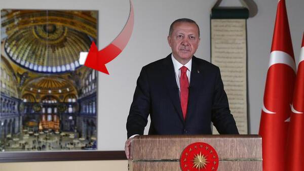 Erdoğan'ın Ayasofya şifreleri! 20.53'teki konuşmada 3 Ayasofya mesajı