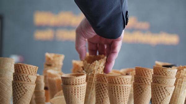 Bursa'da üretilen dondurma külahları 7 ülkeye ihraç ediliyor