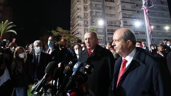 Son dakika haberi... KKTC'de tarihi ziyaret... Cumhurbaşkanı Erdoğan 46 yıl sonra açılan Maraş'ta