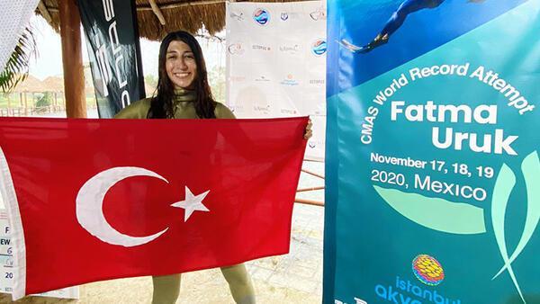 Son Dakika Haberi | Serbest dalışçı Fatma Uruk, Meksika'da dünya rekoru kırdı!