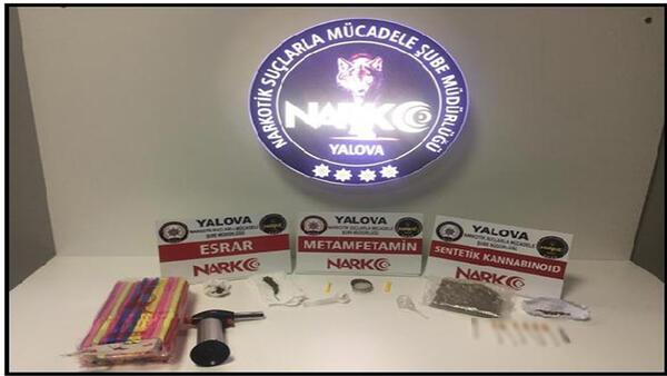 Yalova'da uyuşturucu operasyonları