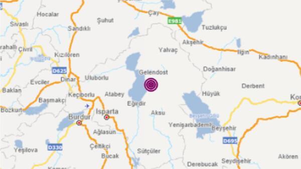 Son dakika deprem haberi: Isparta'da aynı bölgede üst üste deprem!