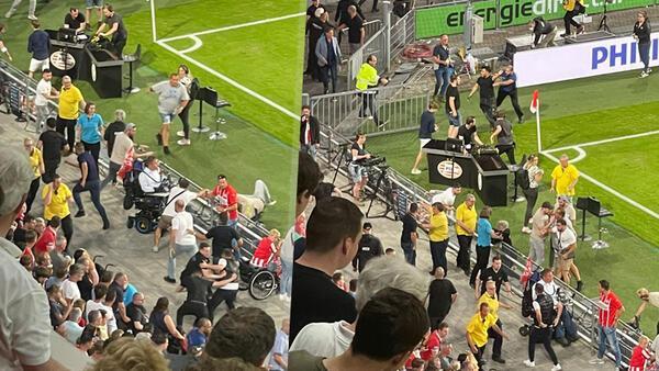 Son Dakika Haberi: PSV - Galatasaray maçının devre arasında gerginlik! Çirkin saldırı...