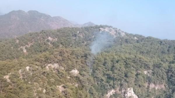 Son dakika! Muğla'nın Marmaris ilçesinde orman yangını
