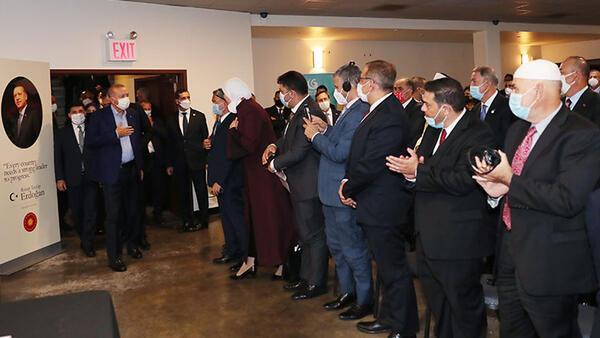 Erdoğan, ABD'deki Müslüman toplumun temsilcilerini kabul etti