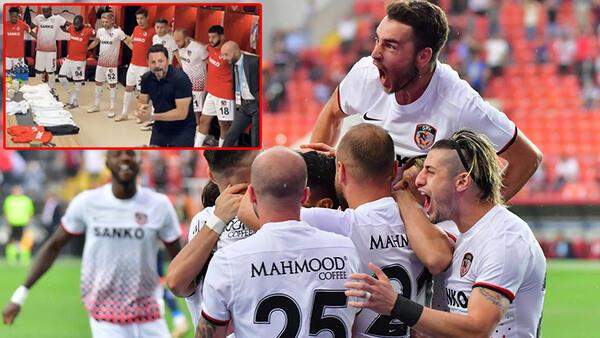 Gaziantep FK paylaştı! Erol Bulut, Muhammet Demir'in tarihi golünü soyunma odasında anlatmış...