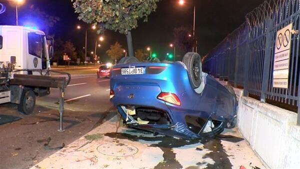 Bakırköy'de korkunç kaza! 3 kişi yaralandı
