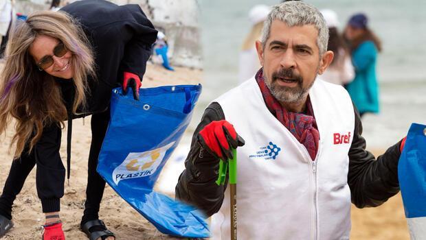 Kıyılarda  çöp topladılar